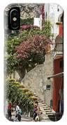Positano Street Scene IPhone Case