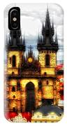 Prague Church Of Our Lady Before Tyn IPhone Case