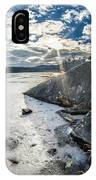 Price Lake Frozen Over During Winter Months In North Carolina IPhone Case