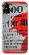 Proto Film Noir Peter Lorre Fritz Lang M 1931 Screen Capture Poster 2013 IPhone Case