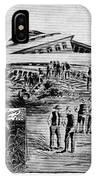 Railroad Accident, 1887 IPhone Case