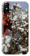Red In The Cotton  IPhone Case