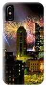 21l334 Red White And Boom Fireworks Display Photo IPhone Case
