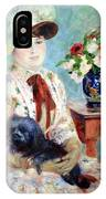 Renoir's Mlle Charlotte Berthier IPhone Case