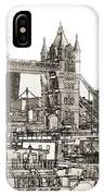 River Thames Sketch IPhone Case
