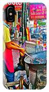 Roasting Chestnuts In China Town In Bangkok-thailand  IPhone Case