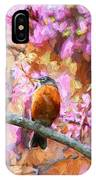 Robin In A Red Bud Tree IPhone Case
