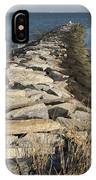 Rock Jetty At Sandy Point IPhone Case