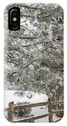 Rural Winter Scene With Fence IPhone Case
