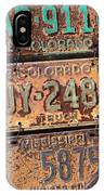 Rusted Plates IPhone Case
