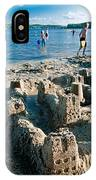 Sandcastle On The Beach IPhone Case