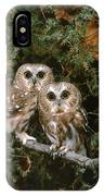 Saw-whet Owls IPhone Case