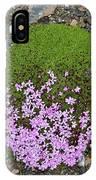 Saxifrage (saxifraga Oppositifolia) IPhone Case