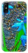 Scilla In New Maiden Cemetery In Moscow-russia  IPhone Case