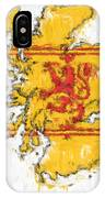 Scotland Painted Flag Map IPhone Case