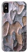 Scots Pine Bark Abstract IPhone Case