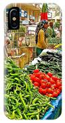 Selling Fresh Vegetables In Antalya Market-turkey IPhone Case