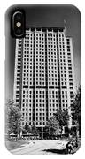shell centre tower and jubilee gardens southbank London England UK IPhone Case