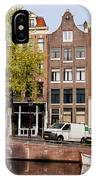 Singel Canal Houses In Amsterdam IPhone Case