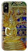 Sitting Buddha In Wat Po In Bangkok-thailand IPhone Case