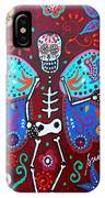 Skellyfly Day Of The Dead IPhone Case
