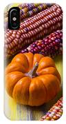 Small Pumpkin And Indian Corn IPhone X Case