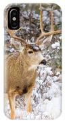 Snowstorm Deer IPhone Case