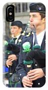 Some Bagpipers Marching In The 2009 New York St. Patrick Day Parade IPhone Case