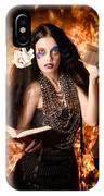 Sorcerer Casting Black Magic Spells Of Fire IPhone Case