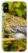 Sparkling Violet Ear Hummingbird IPhone Case