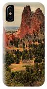 Spires In The Garden IPhone Case