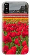 Springtime Tulip Field Art Prints IPhone Case