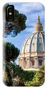St Peters Basilica Dome IPhone Case
