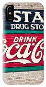 Star Drug Store Wall Sign IPhone Case