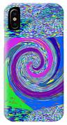 Stool Pie Chart Twirl Tornado Colorful Blue Sparkle Artistic Digital Navinjoshi Artist Created Image IPhone Case