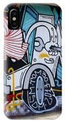 Street Art Valparaiso Chile 15 IPhone Case