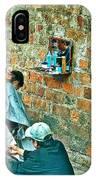 Streetside Barbershop In Hanoi-vietnam  IPhone Case