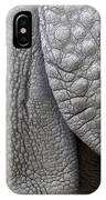 Structure Of The Skin Of An Indian Rhinoceros In A Zoo In The Netherlands IPhone Case
