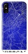 Stuttgart Street Map - Stuttgart Germany Road Map Art On Colored IPhone Case