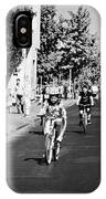 sunday morning roads closed for cyclists and walkers Santiago Chile IPhone Case