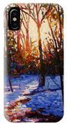 Sunset On Snow IPhone Case