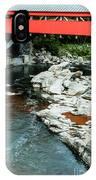 Taftsville Covered Bridge Vermont IPhone Case