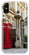 Telephone Box In London IPhone Case