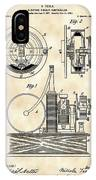 Tesla Electric Circuit Controller Patent 1897 - Vintage IPhone Case
