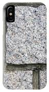 Texture Of Small Stone Structure Road  IPhone Case