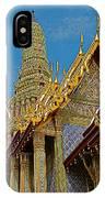 Thai-khmer Pagoda At Grand Palace Of Thailand In Bangkok IPhone Case
