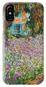 The Artists Garden At Giverny IPhone Case