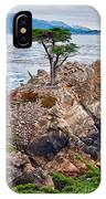 The Famous Lone Cypress Tree At Pebble Beach In Monterey California IPhone Case