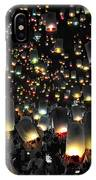 The Floating Lanterns In Thailand. IPhone Case