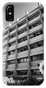 the shard building towering over melior street community garden London England UK IPhone Case